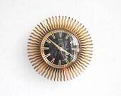 Modern wall clock, starburst clock, sunburst clock, mid-century clock, Atlanta clock, starburst clock wall, starburst clock vintage