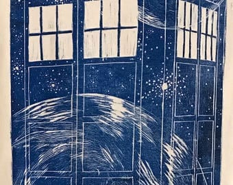 TARDIS - Woodblock Printed Shirt