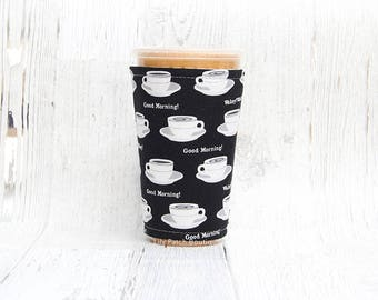 Iced Coffee Cozy, Cup Cozy,  Coffee Cozy, Iced Coffee, Cup Sleeve, Coffee Cuff,