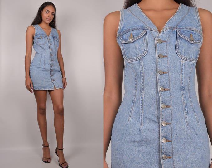 90's Bongo Denim Mini Dress
