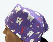 Unisex Scrub Cap - Cute Smiling Teeth on Light Purple scrub hats - Dentist Design Scrub Hats - Surgeons Scrub Cap - Doctors Gift