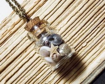 Seashell Vial Necklace