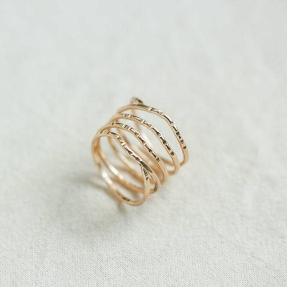 stacking rings gold ring dainty gold ring promise ring thin