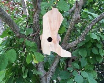 Bird House Shaped Like Cowboy Boots