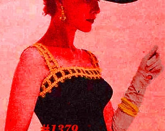 Vintage 1956 Viennese Evening Blouse #1379 PDF Digital Easy Knit Pattern