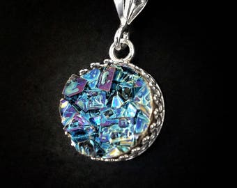 """Bismuth Crystal Necklace  """"Abby's Eye"""" - Bismuth Geode - Sterling and Bismuth Jewelry by Element83 - Iridescent Crystal Necklace Jewelry"""