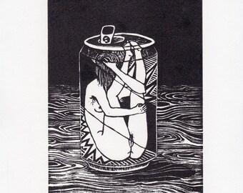 Limited Edition, Linocut Print