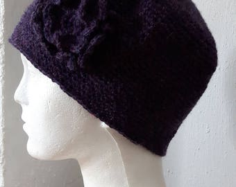 Crochet flower beanies ladies womens