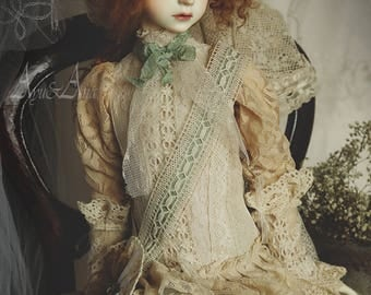 Young Vampire  OOAK handmade dress set for bjd dollfie sd sd9 boy sd10 girl unisex clothing clothes victorian edwardian historical style