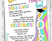 Oh, The Places You'll Go - Preschool graduation invitation