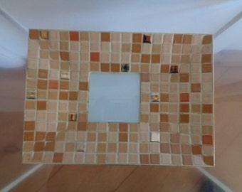 Vintage,Mid Century, Mosaic Tile Tray,Dish