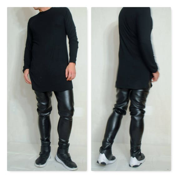 Coated Neoprene Faux Leather Coated Latex Slim Cut Jeans style pant Motor Cycle style Pant