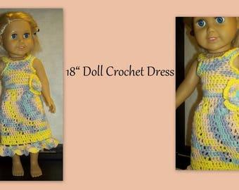 "18"" Doll Crochet Peplum Top and Cotton Capri Pants"
