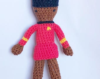 Lieutenant Uhura from Star Trek - Amigurumi Crocheted Doll - Nichelle Nichols Action Figure Lieutenant Nyota Uhura