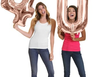 """Giant Rose Gold 40th Birthday Balloons - Mylar 16th 21st 30th 40th 50th Birthday balloons, 40th Birthday Decorations, 40 Bday, 34"""" number"""
