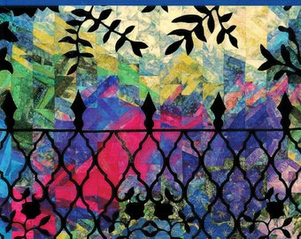 "Stunning ""Enchanted Views"" Quilt Book Inspirational Wrought-Iron Designs by English Designer Dilys A. Fronks Quilting Supplies Sewing Supply"