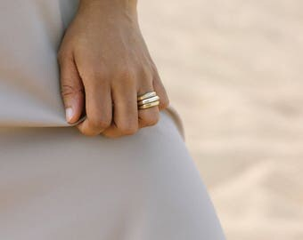 Faceted Ring Wide Gold Ring Chunky Silver Ring Gold Statement Ring Silver Statement Ring