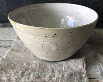 BOWL - ceramic basics, speckled bowl, rustic pottery bowl, cereal bowl, rice bowl, yoghurt bowl, salad bowl, breakfast bowl, rustic bowl