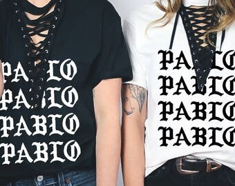 Pablo Kanye West Yeezus Yeezy Reworked LF Inspired Lace Up Laceup Laced Tee