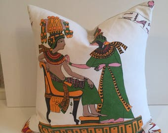 SALE bohemian vintage Egyptian pillow cover