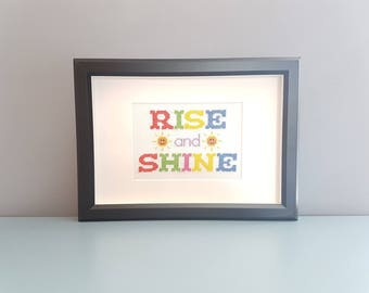 Rise and Shine - Framed Cross Stitch