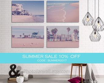 Summer sale Palm trees Lifeguard Tower Venice beach California Decor/Beach house decor/Luxury Wall Decor/Coastal Wall Art/Business Decor