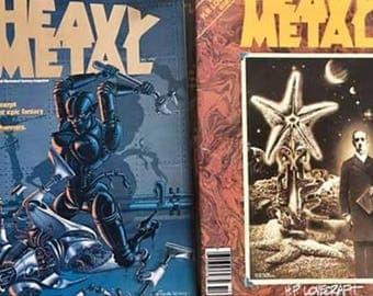 Heavy Metal Magazine Lot