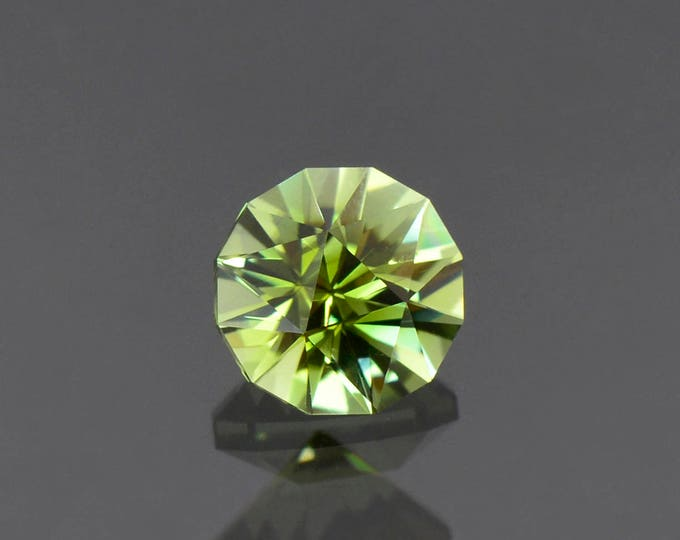 UPRISING SALE! Fabulous Bright Green Yellow Tourmaline Gemstone from the Congo, 7.5 mm., 1.82 cts.