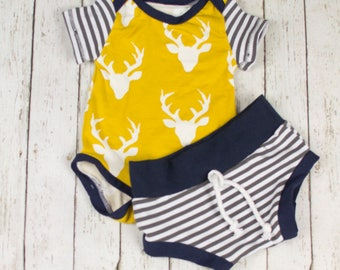Baby Boy Coming Home Outfit, Baby Boy, Baby Boy Clothes, Baby Boy Gift, Baby Boy Outfit, Baby Shorts, Baby Shorties, Baby Boy Shorts