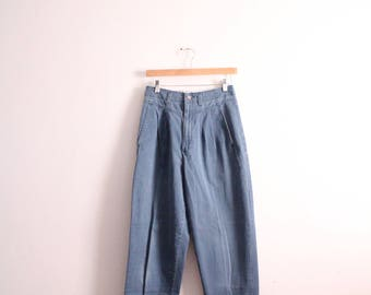 Faded High Waisted 90s Trouser Pants