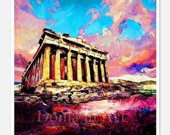 Ancient Greece, Greek Art, Greek Wall Decor, Acropolis Athens, Acropolis Art, Athens Art, Wall Decor, Greek Decor, Digital Prints, Greece