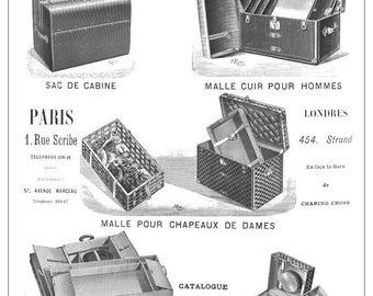 Rare Vintage Louis Vuitton Ad 1898