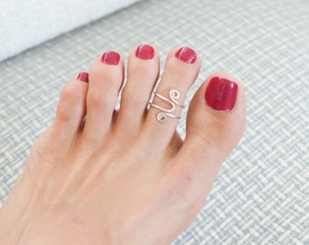 Adjustable Toe Ring Sterling Toe Ring Body Jewelry For Her Handmade Jewelry Summer Rings