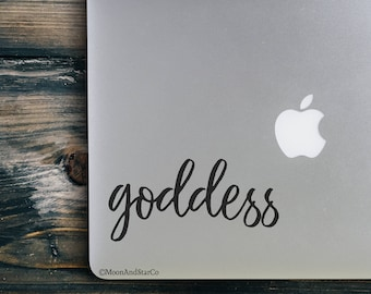 Goddess                  , Laptop Stickers, Laptop Decal, Macbook Decal, Car Decal, Vinyl Decal