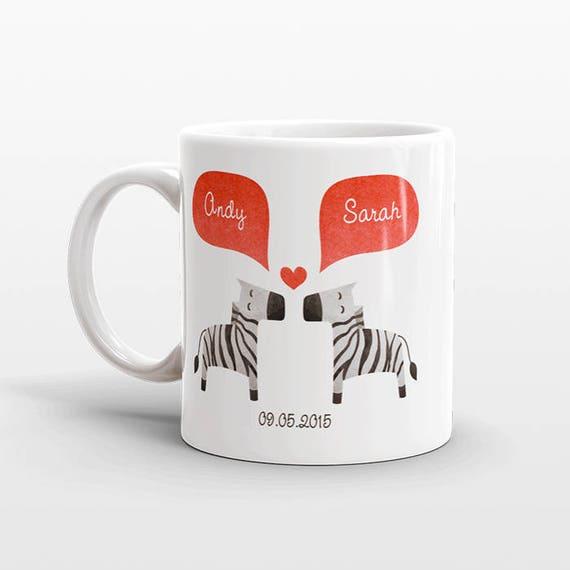 ZEBRA Mug Valentines Day Gift for Her for Him Animal Couple Mug Engagement Gift Wedding Gift Unique Coffee Mug Personalized Mug Coffee Cup
