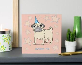 Birthday PUG card