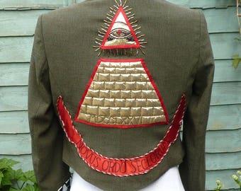 Upcycled desperately seeking Susan jacket UK 10, US 6