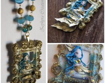 Mermaid Barocca - Polymerclay, Resin, Fimo - Necklace handmade