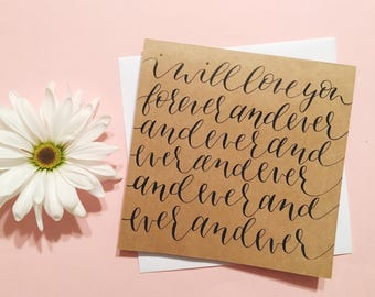 I WIll Love You Forever and Ever card