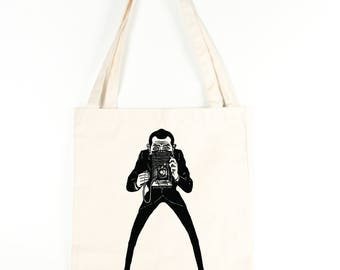 Retro Photographer Cotton Tote Bag