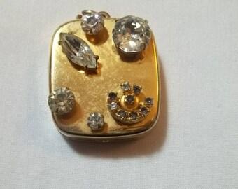 1960s vintage pendant with rhinestones