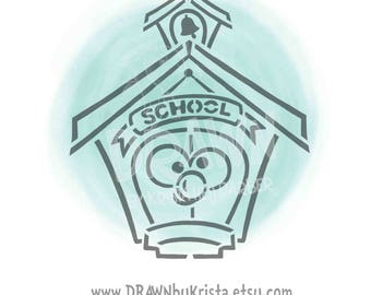Schoolhouse- PYO Stencil File- PERSONAL USE only