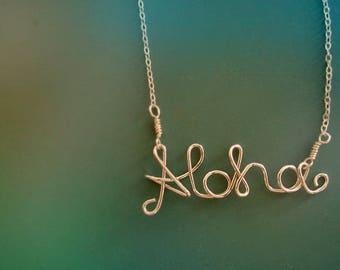Aloha Monogram Necklace