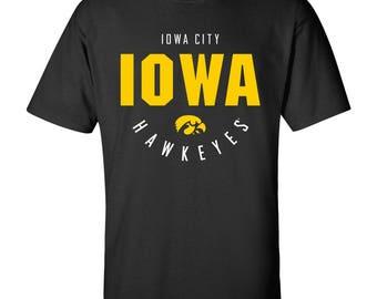 Iowa Hawkeyes Inverted Arch T-Shirt - Black