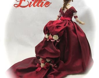 Dollhouse Doll LILLIE Doll Pattern and Instructions PDF Miniature Dollhouse 1:12 Scale Instant Download DIY