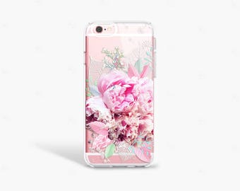 Peony iPhone 7 Case Floral iPhone 7s Case Floral iPhone 7s Plus Case Peony iPhone Case Galaxy S8 Case Floral Samsung Galaxy S7 Edge Case