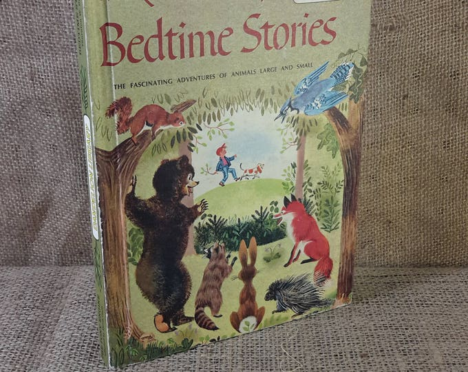 Vintage childrens double sided book from Dandelion Library, The Pony Engine and Bedtime Stories, 1958 Childrens Books, I think I can