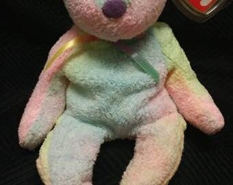 """TY BEANIE Baby """"Groovy"""" 1999 Groovy Beanie Babie Ty Dyed Bear"""