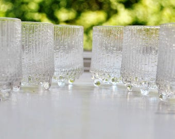 Iittala Ultima Thule Cordial Glasses Set of 6 Tapio Wirkkala Vintage Finland