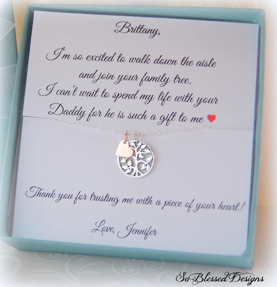Step Daughter Wedding Gifts Step Daughter Necklace Gift For